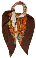 Hermes Jungle Love Cashmere Silk Scarf