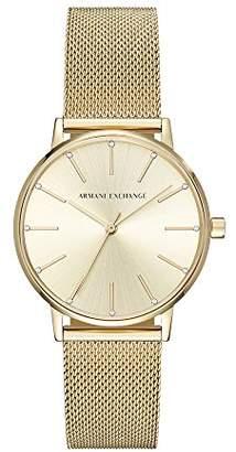 Armani Exchange Women's Dress Gold Watch AX5536