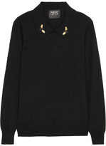 Markus Lupfer Sarah Embellished Wool Sweater - Black