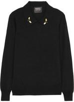 Markus Lupfer Sarah Embellished Wool Sweater - large