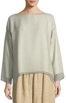 eskandar Layered Silk Tunic Top