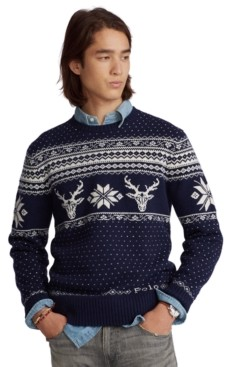 Polo Ralph Lauren Men's Snowflake Wool-Cashmere Sweater