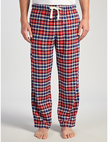 John Lewis Truro Check Brushed Cotton Lounge Pants, Red