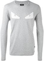Fendi Bag Bugs sweatshirt - men - Cotton/Lamb Skin - 48
