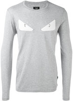 Fendi Bag Bugs sweatshirt - men - Cotton/Lamb Skin - 52