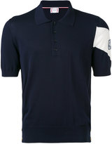 Moncler Gamme Bleu chevron sleeve polo - men - Cotton - 1
