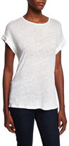 Frame Linen Round-Neck Muscle Tee