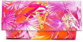 Versace Virtus jungle print clutch