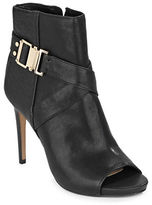 Vince Camuto Fruell Leather Peep Toe Booties