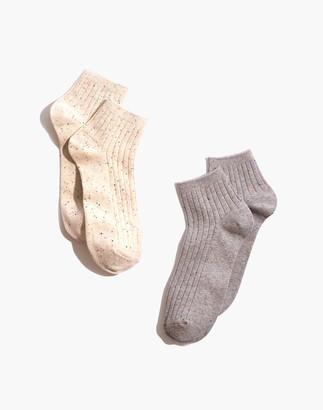 Madewell Two-Pack Rainbow Flecked Ankle Socks