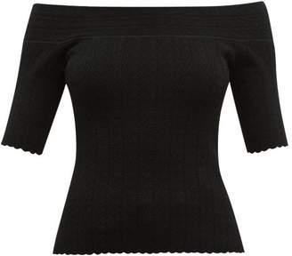 Altuzarra Barnehurst Off The Shoulder Top - Womens - Black