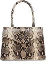 Mario Valentino Valentino By Melanie Python-Print Leather Top-Handle Bag