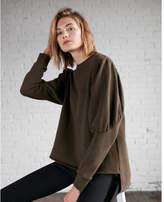 Express puff sleeve hi-lo sweatshirt