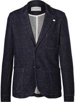 Oliver Spencer Loungewear - Blue Mélange Wool And Cotton-blend Blazer