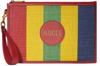 Gucci Striped Logo Clutch Bag