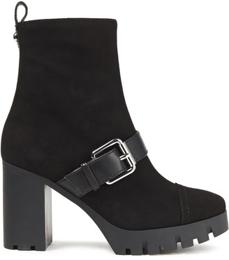 Giuseppe Zanotti Buckled Suede Platform Ankle Boots