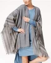 Eileen Fisher Wool-Blend Fringe-Trim Poncho