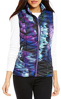 Westbound Mock Neck Zip Front Packable Printed Puffer Vest