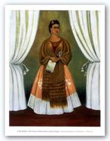 "McGaw Graphics Self-Portrait Dedicated to Leon Trotsky, 1937 by Frida Kahlo 27.5""x21.5"" Art Print Poster"