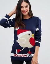Club L Rockin Robin Holidays Sweater
