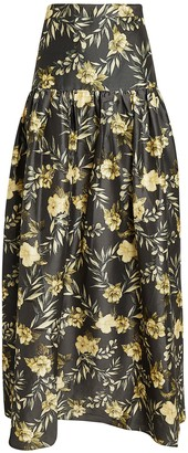 SIR the Label Carmen Floral Print Maxi Skirt
