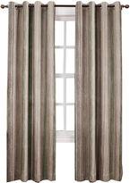 Sun Zero Sun ZeroTM Emory Crushed Printed Stripe Room-Darkening Grommet Curtain Panel