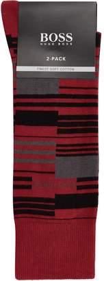 BOSS Block Stripe Socks (Pack of 2)