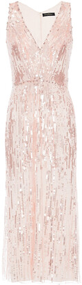 Jenny Packham Embellished Tulle Midi Dress