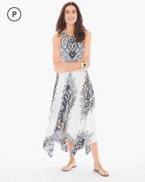 Chico's Folk-Print Handkerchief Hem Dress