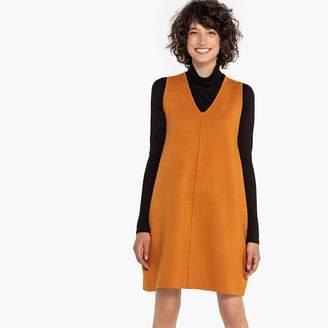 La Redoute Collections Sleeveless V-Neck Tunic Dress