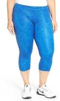 Nike 'Essential' Print Dri-FIT Crop Leggings (Plus Size)