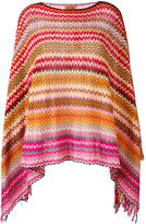 Missoni zig zag crochet knit poncho - women - Cotton - One Size