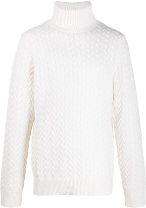 Michael Kors Roll Neck Cable Knit Jumper