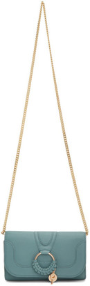 See by Chloe Blue Hana Chain Wallet Bag