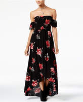 American Rag Juniors' Floral-Print High-Low Maxi Dress, Created for Macy's