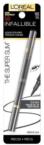 L'Oreal Cosmetics Infallible Super Slim Liquid Eyeliner - 0.034oz