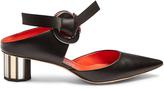 Proenza Schouler Front-tie block-heel leather sandals
