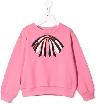 Gucci Kids Logo Bow Sweatshirt