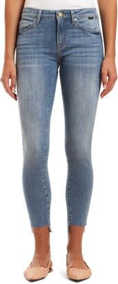 Mavi Jeans Adriana Fray Step Hem Ankle Skinny Jeans