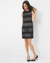 White House Black Market Textured Cutout Sheath Dress