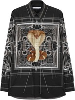 Givenchy Black Cobra-print Cotton Shirt