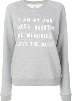 Zoe Karssen slogan printed sweatshirt - women - Cotton/Polyester - S