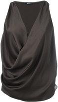 Jil Sander Navy wrap sleeveless blouse - women - Polyester - 38