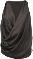 Jil Sander Navy wrap sleeveless blouse
