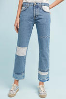 Current/Elliott The DIY Original Straight High-Rise Cropped Jeans