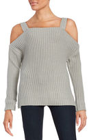 Honey Punch Knit Cold-Shoulder Sweater