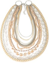 ABS by Allen Schwartz Multi-Row Two-Tone Necklace, 16