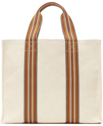 Loro Piana The Suitcase Stripe Small tote