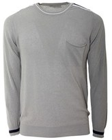 Daniele Fiesoli Men's Grey Cotton Sweater.