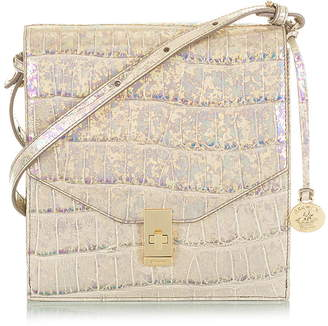 Brahmin Kimmie Croc Embossed Leather Crossbody Bag